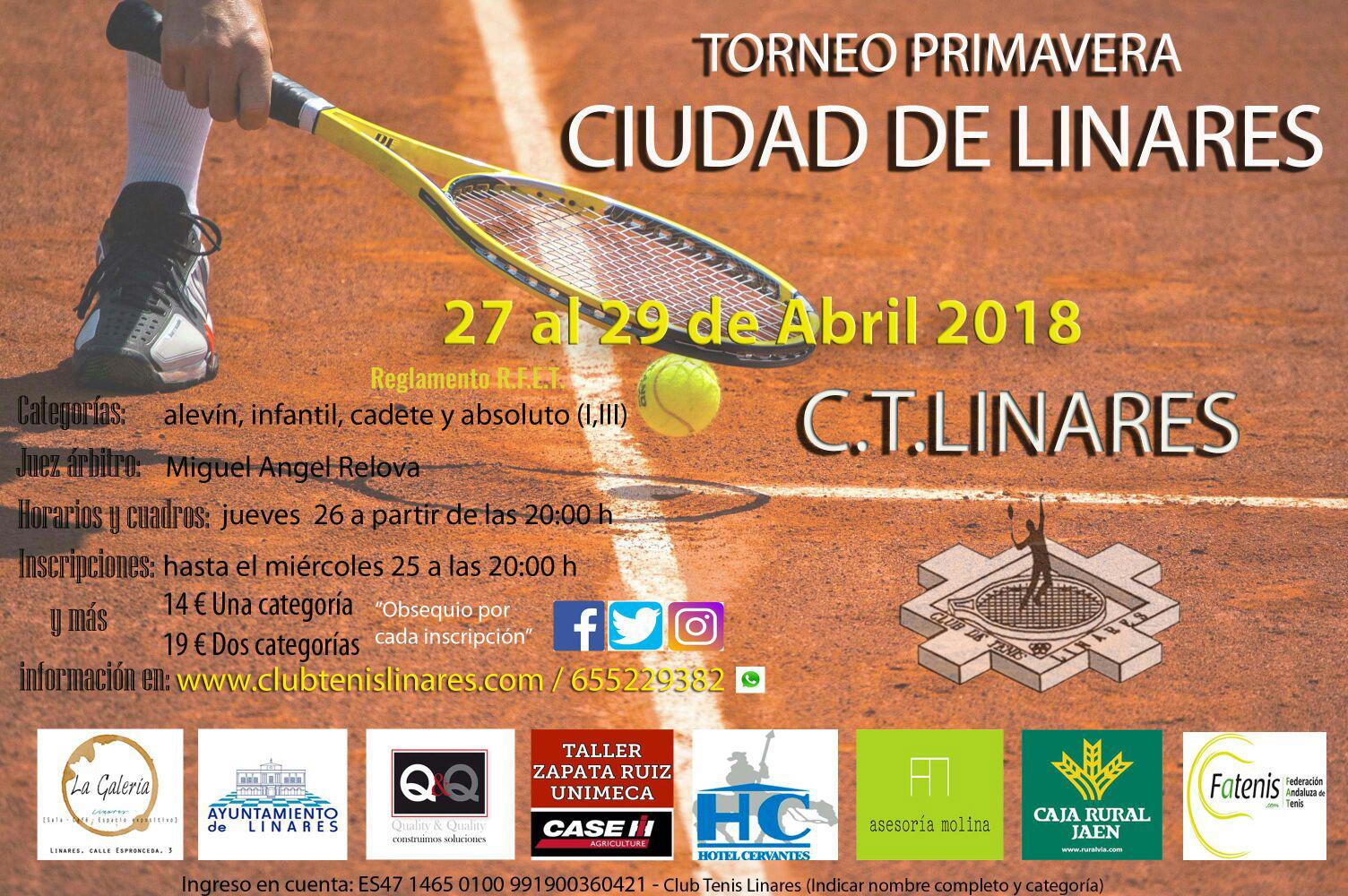 Cartel Torneo Primavera Ciudad de Linares